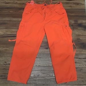 EUC POLO orange cargo pants sz 42x30
